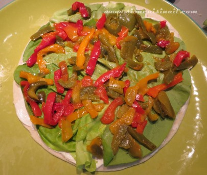 wraps poivrons cumin