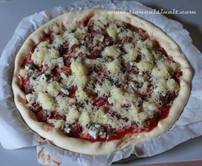 pizza aux merguez
